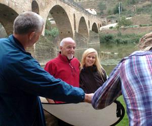 Paulo Coelho graba un documental sobre el Camino de Santiago