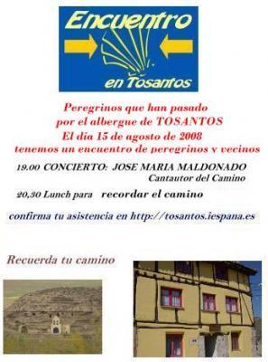 Encuentro de peregrinos en Tosantos (Burgos)