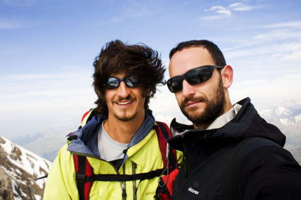 Los peregrinos Andrés Fraga y Juan Rivas del proyecto